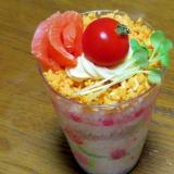 フライパン1コで簡単☆ちらし寿司のカップケーキ