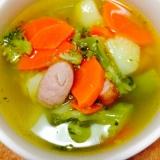 ブロッコリーとジャガイモのコンソメスープ