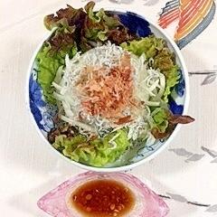 サニーレタス と玉葱のサラダ