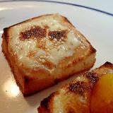イチジクジャムとスライスチーズのミニトースト