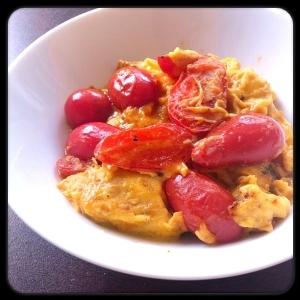 ミニトマト卵炒め