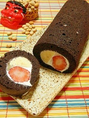 恵方巻き米粉ロールケーキ