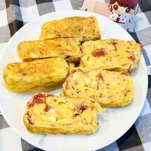 簡単!弁当にも☆コンミート入りジャンボな卵焼き