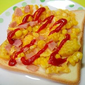 リオナソーセージととうもろこしの卵トースト