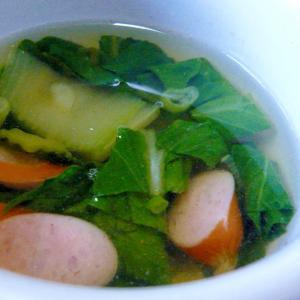 ❤ 青梗菜&ウインナーのスープ ❤