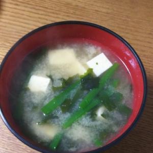 ニラ&わかめ&豆腐のお味噌汁