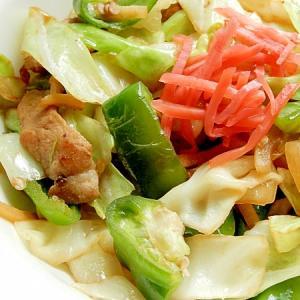 +生姜千切り❤豚肉&野菜の炒め物♪(焼肉のタレ)