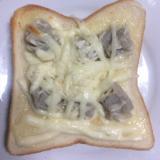割けるチーズで♪焼売マヨトースト