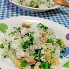 菜の花とザーサイの混ぜご飯