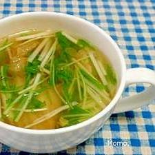 水菜とキムチのスープ