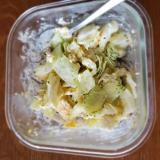 キャベツと卵の豆腐サラダ