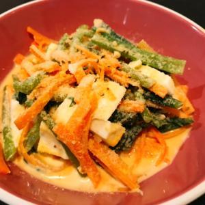 小松菜とにんじんのチーズサラダ♪