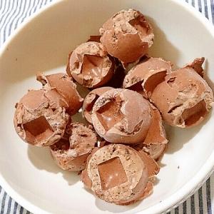 白いんげん豆の水煮でチョコあんアイス
