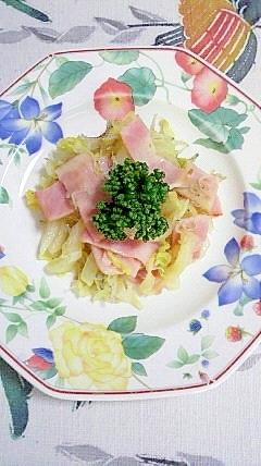 白菜とベーコンの塩麹炒め