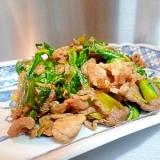 チンゲン菜と豚肉の炒め物