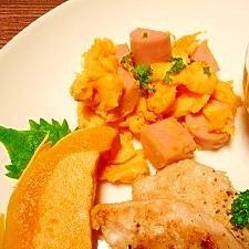 甘~い☆魚肉ソーセージ炒り卵
