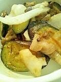 ナスの味噌野菜炒め