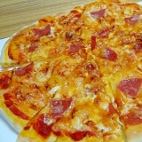 米粉でピザ(HB使用)