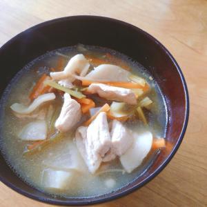 体ポカポカ☆生姜入りかぶとキノコの豚汁