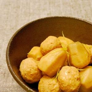 【圧力鍋】里芋と鶏団子の煮っころがし