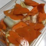 【男の宅飯】キムチ鍋の素再利用 人参と白菜のサラダ