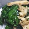ヘルシーで栄養満点☆鶏胸肉とケールのにんにく炒め