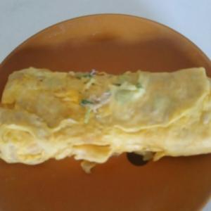 ツナとネギの卵焼き