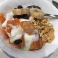 柿ヨーグルトで秋朝食