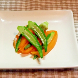 パプリカとオクラの副菜
