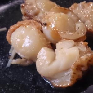 ベビーホタテのニンニクバター醤油焼き