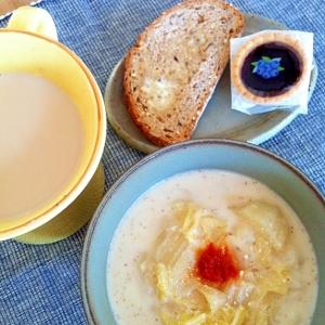 ラクチン豆乳胡麻スープ