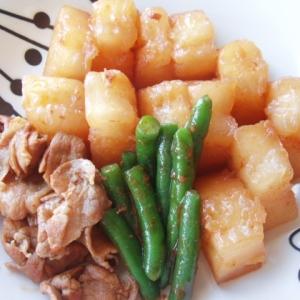 冬瓜と豚肉のピリ辛煮