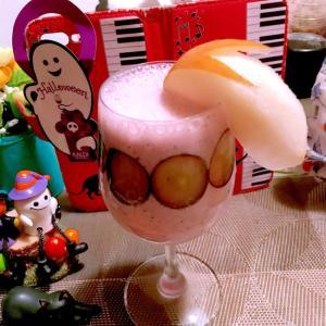 ナガノパープルと梨とヨーグルトのスムージー