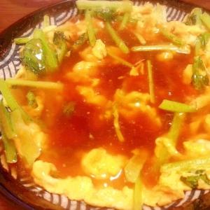 トロ~リ小松菜(ほうれん草)卵★ 和風ポン酢あん♪