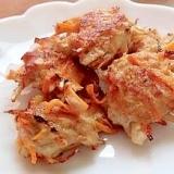 鶏ひき肉とごぼうのつくね揚げ