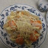 焼き鮭と玉葱のちらし寿司