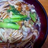 小松菜豚蕎麦