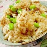 ❤鰹節とめんつゆ生姜と枝豆の混ぜご飯❤