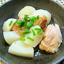圧力鍋で簡単やわらか♪大根と鶏もも肉の酒昆布茶煮