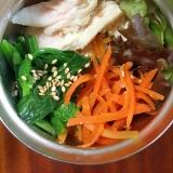 サラダチキンと白滝麺の中華風