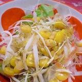 「カット野菜&スライス玉ねぎ&コーンのサラダ」