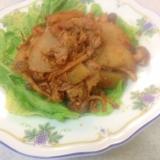 ヤーコンと豚こまの味噌炒め