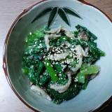 小松菜とシメジのゴマ和え