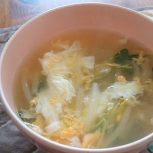 もやしとかいわれの卵スープ