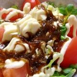豆腐ともずくのサラダ