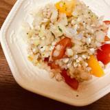 蕎麦の実とトマトのサラダ