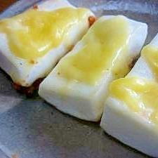 バター焼きはんぺんのチーズ乗せ**