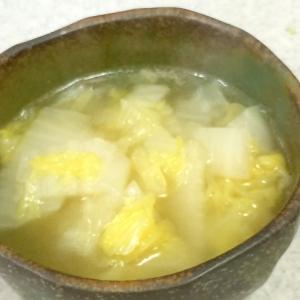 具材は白菜だけ!優しい白菜スープ