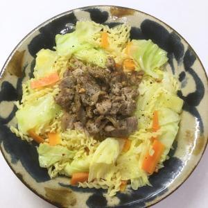 キャベツとマカロニのお手軽サラダ