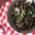 ピーマンとシシトウの葉の佃煮